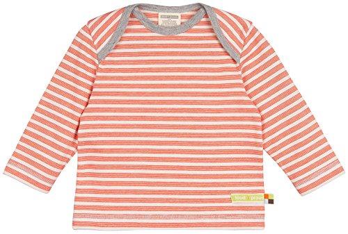 loud + proud loud + proud Unisex Baby Shirt Streifen aus Bio Baumwolle, Orange (Sunrise Su), 68 (Herstellergröße: 62/68)