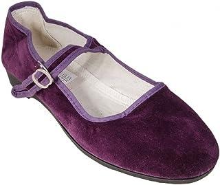 Sonnenscheinschuhe® China - Zapatos chinos (terciopelo, tallas 34-42), color morado