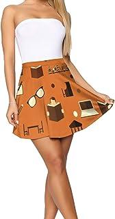 FFMMdog Design Theme Summer Women's Shorts Skirt Pink Horse Pattern