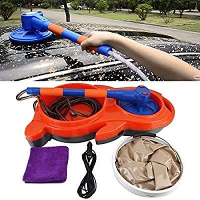 Household car washer Electric Scrub Synchronous Rotation Portable High Pressure Car Wash Car Home Electric Car Washer 13L DC 12V, with 19cm Brush from WXK