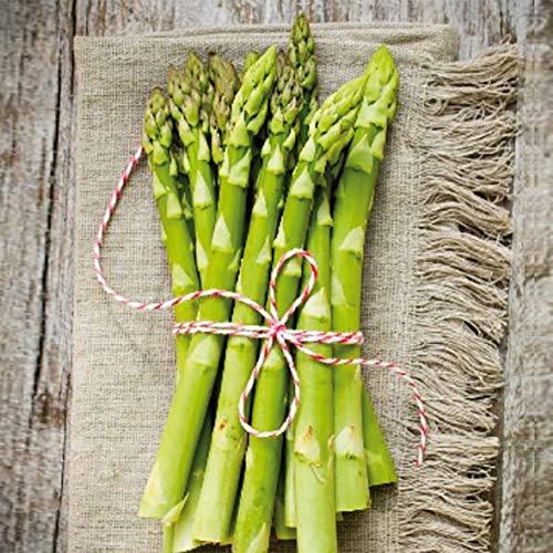 Home Collection Maison Cuisine Set 40 Serviettes de Table Jetables 3 Plis Motif Asperges Vertes