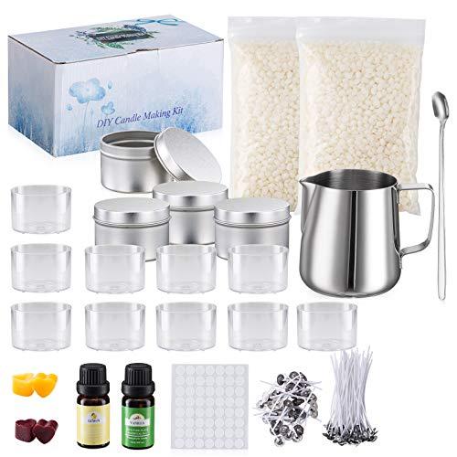 Aslanka Kit de Fabricación para Velas, Velas Perfumadas de Regalo, kit para hacer velas para principiantes, para verter velas y suministros de arte y manualidades