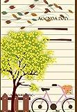 AGENDA 2021: AGENDA GIORNALIERA 2021, un giorno per pagina compresi festivi e domeniche, ideale per appunti quotidiani, in stile MINIMAL ( BICICLETTA ) ROMANTICA