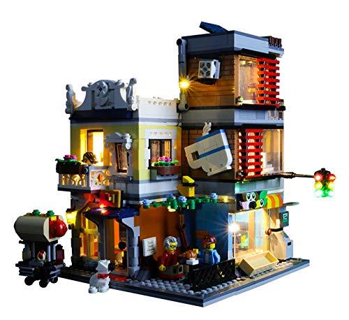 QZPM Kit De Iluminación Led para Lego Tienda De Mascotas Y Café, Compatible con Ladrillos De Construcción Lego Modelo 31097, Juego De Legos No Incluido
