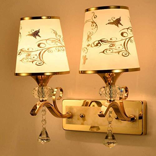 YZYZYZ Luz De La Pared Estilo Moderno Colgante De Cristal Perfecto For La Sala De Estar Dormitorio Pasillo De Noche Hotel Style Lámpara De Pared, L