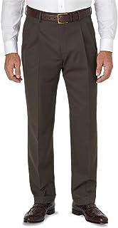 Paul Fredrick Men's Classic Fit Wool Gabardine Pleated Pant