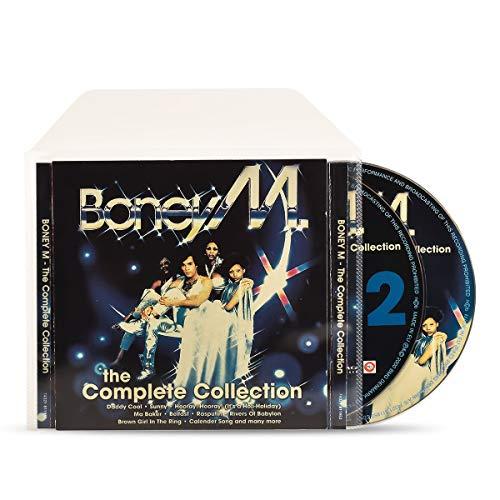 3L Doppel CD Hülle mit Platz für EIN Cover - 50 Stück - CD Hüllen aus Plastik für platzsparende Aufbewahrung - 10298