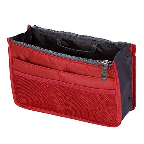 TDFGCR Multifunktions-Handtaschen-Geldbeutel-Einsatz-MP3-Telefon-kosmetische Aufbewahrungstasche —rot