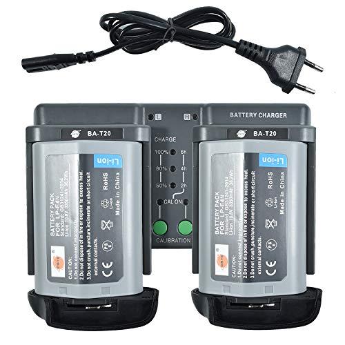 DSTE 2Pack LP-E4N(10.8V/3350mAh) Batería + DMH26A 3-in-One Power Batería Cargador...
