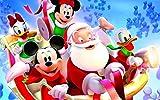 CHANGJIU-Jigsaw Puzzle Puzzle 1000 Piezas- Póster Pato Donald Y Santa -Puzzle Educational Game Juguete para Aliviar Estrés Juego Intelectual Cerebro Desafío