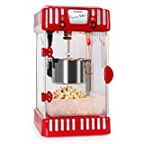Klarstein Volcano Macchina Popcorn vintage con contenitore (300 Watt, dolce e salato, riscaldamento...