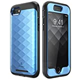 Clayco Hera Series Case Designed for iPhone 7/iPhone 8, Full-Body Rugged Built-in Screen Protector Case for Apple iPhone 8 Case (2017)/ iPhone 7 Case (2016) (Blue)