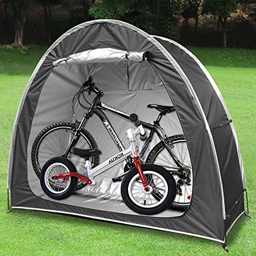 Tenda da Bici, Impermeabile Antipolveri Anti-UV Copertura per Biciclette Tenda da deposito per Giardino Campeggio Pesca 78.7 x 31.5 x 65 inch (Black)