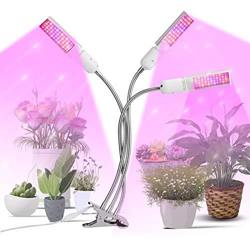 infinitoo Pflanzenlampe LED, Pflanzenlicht 132 LEDs Pflanzenleuchte, 80W Wachstumslampe Vollspektrum, Grow Lampe mit Zeitschaltuhr für Zimmerpflanzen