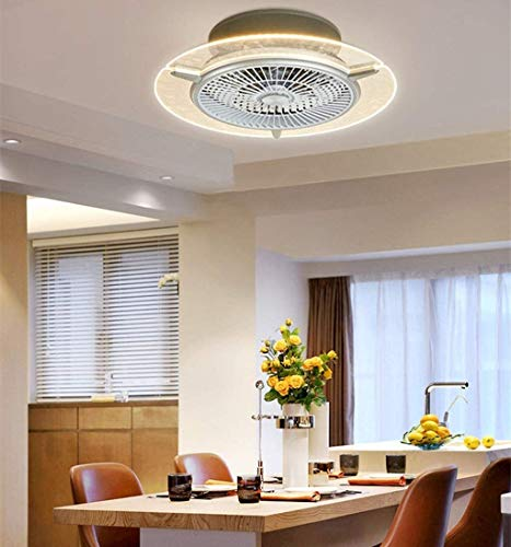 COCNI 2020 creativo moderno de la lámpara del ventilador Ventilador de techo Iluminación LED con el ventilador y funciones de control remoto silencioso ventilador de techo invisible de iluminación, ad