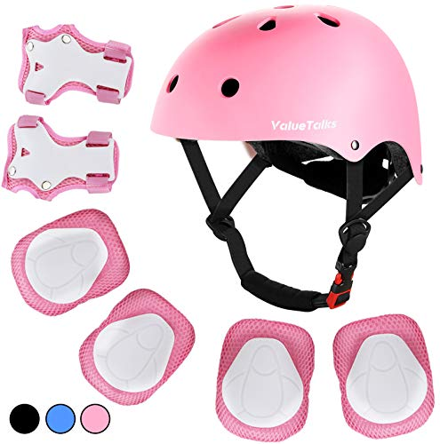 VIWINVELA Kids Knee and Elbow Pads with Bike Gloves Toddler Protective Gear