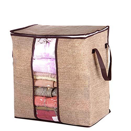 TuToy bolsa de edredón plegable no tejida grande para guardar ropa o mantas, con ventana y asa, a, 1