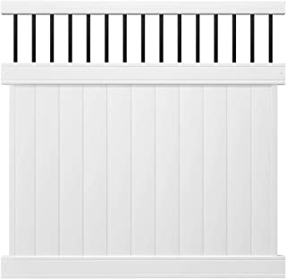 Outdoor Essentials Pro Series Lakewood White Vinyl Baluster Top Privacy Fence Panel Kit, 6 ft. x 6 ft.