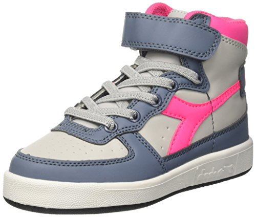 Diadora Mi Basket II Jr, Sneaker a Collo Alto Bambino, Grigio (Grey Violet/Flint Stone), 32 EU