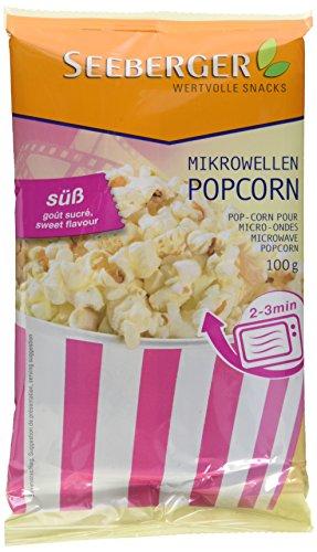 Seeberger Mikrowellen Popcorn süß, 25er Pack (25 x 90 g)