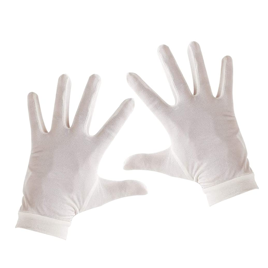 大惨事気づくなるアッティカスTenn Well シルク手袋, 天然絹100% 手荒れ対策 保湿ケア UVカット おやすみ手袋 (白い)