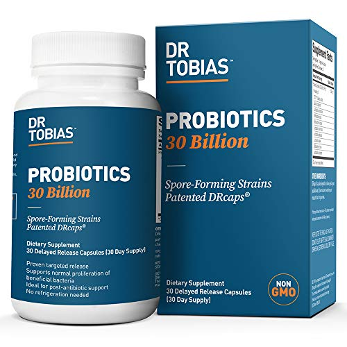 Dr Tobias Probiotics 30 Billion - 10 Strains, Delay Release & Spore Forming Strains - Shelf Stable