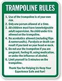 cullarsjultaze Aluminium Schild, Legend 'Trampolin Regeln,' 45,7cm hoch x 30,5cm breit, grün...