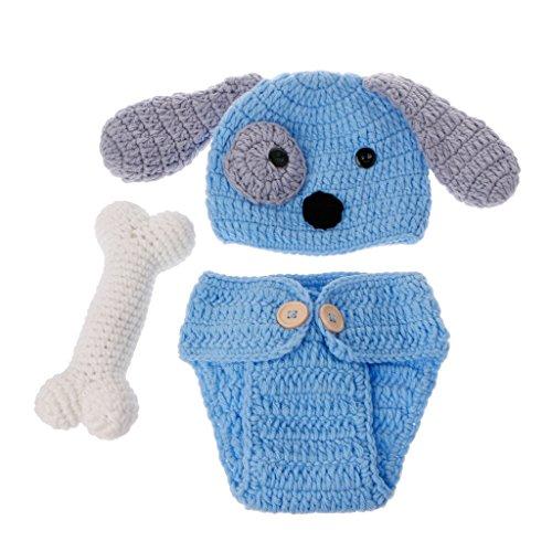 Disfraz de perro, para fotografía de recién nacido, con tejido para fotografía