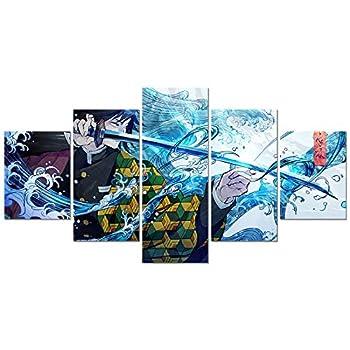Anime Demon Slayer Kimetsu No Yaiba Poster Tomioka Giyuu Print on Canvas Painting for Living Room Decor Wall Art  Unframed Giyuu 1