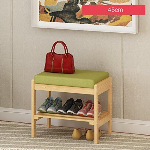 LITINGMEI Shelf LT Haushalts-Regal-Speicher-Schuh-Zahnstangen Moderne mehrstöckige hölzerne Regale 45cm (Farbe : Holzfarbe)
