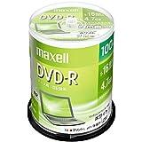 maxell データ用 DVD-R 4.7GB 1-16倍速 プリンタブルホワイト 100枚スピンドルケース DR47PWE.100SP