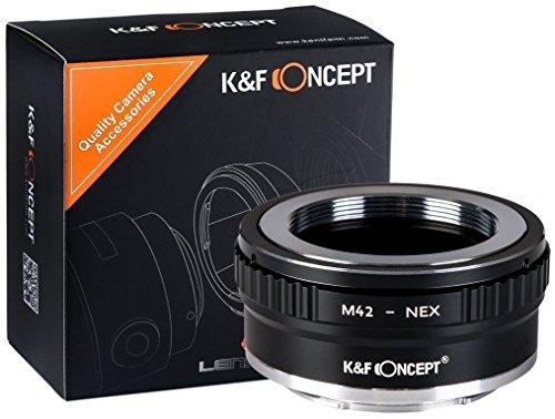 K&F Concept M42 Adaptador ∙Compatible con Cámara Sony E-Mount (NEX/Alpha) ∙ Adaptador...