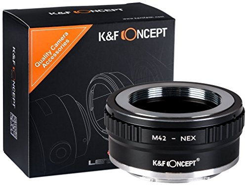 K&F Concept M42 Adapter Sony ∙ Kompatibel mit Sony E-Mount Kamera (NEX/Alpha) ∙ Objektivadapter für M42 Objektiv