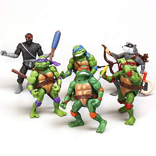 6PCS Ninja Turtles Action Figures Set,Teenage Mutant Ninja Turtles Action Figure Cartoon Cake Creative Decoration