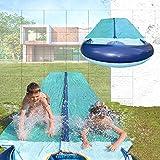 TEAM MAGNUS Wasserrutsche - Slip und Slide aus strapazierfähigem 0.22mm PVC (5.5m Wasserrutsche)