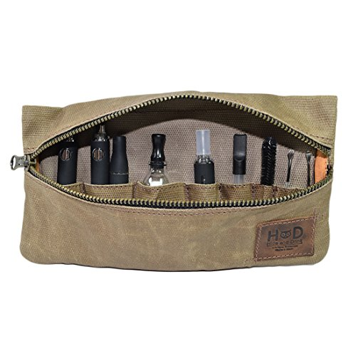Hide & Drink, Waxed Canvas Vape Pen Accessories Kit Pouch Holder, Secure Fit, Cord Storage G Pen Soft Travel Bag Handmade Includes 101 Year Warranty :: Fatigue (Accessories not Included)