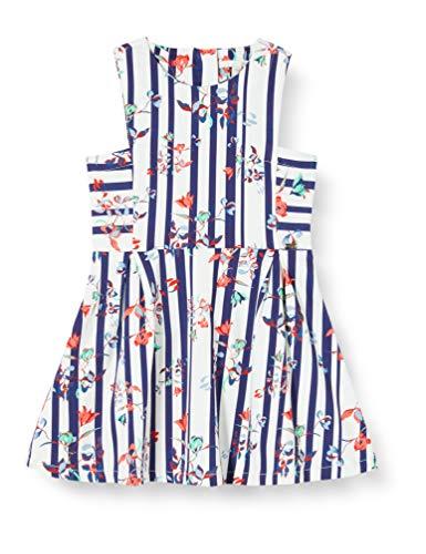 Mexx Mädchen Kleid, Mehrfarbig (Stripe Floral Printed 318813), (Herstellergröße: 98)