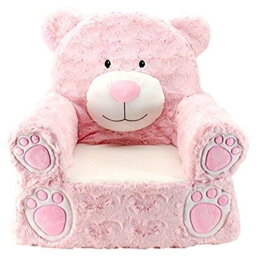 Animal Adventure   Sweet Seats   Pink Bear Children's Plush Chair ,Large/14