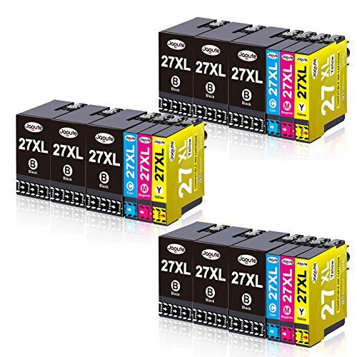 Jagute 27XL Compatibili per Epson 27 27XXL T2711 Alta Capacità Cartucce d'inchiostro per Epson WorkForce WF-7610 WF-7620 WF-3620 WF-3640 WF-7110 WF-7710 WF-7715 WF-7720 WF-7210 Confezione da 18