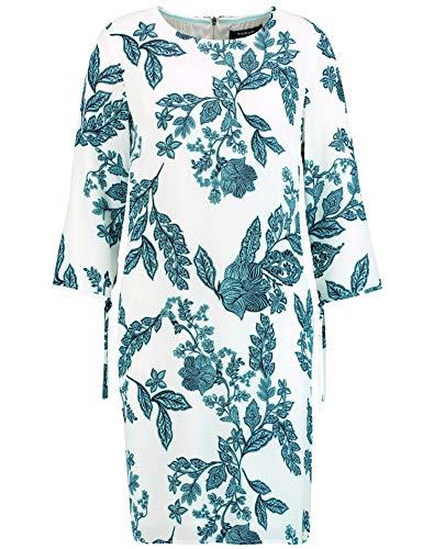 Taifun Damen Kleid Mit Floral-Print Figurumspielend Offwhite Gemustert 46