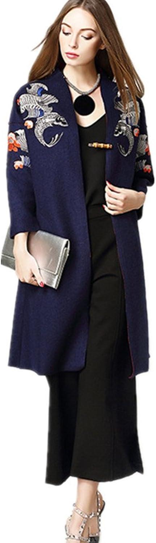 Bobbycool HighGrade Ladies Embroidered Wool Tweed Coat Wool Coat