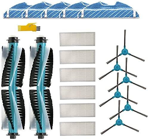 Kit de accesorios de repuesto Laimaiou para robot aspirador Cecotec Conga 1290 1390, 19 paquetes de cepillo principal, filtro, cepillo lateral y paño de fregona