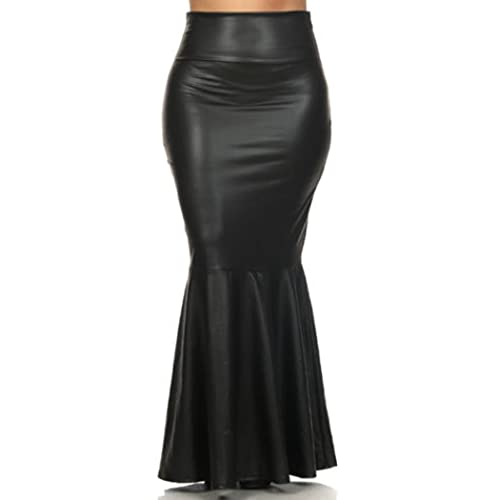 Plus Size Faux Leather Skirt: Amazon.com