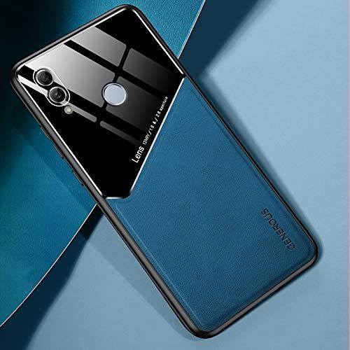 para Huawei Honor 10 Lite Cuero Todo Incluido + Funda Protectora de Vidrio orgánico con Chapa de Hierro metálico (Color : Royal Blue)