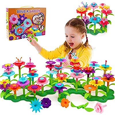 MATELOTI Flower Garden Building Toys for Girls, Indoor Stacking Game Pretend Playset for Toddler, Garden Arts Gifts for 3 4 5 6 7 8 Year Old Girls(148Pcs)