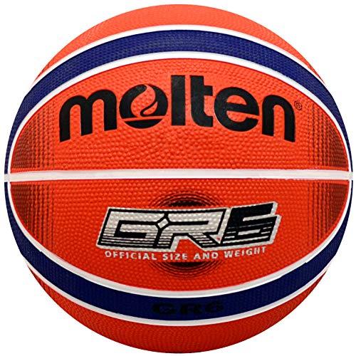 Molten Premium 12 Panel Design Rubber Basketball, Red/Blue, Size 7