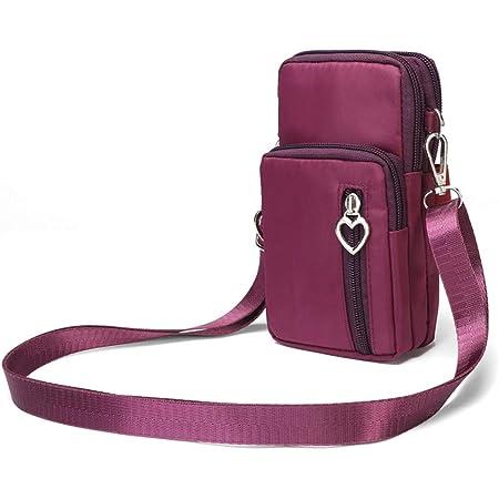 Schimer Hüfttasche Waist Bag Handytasche, Handy Umhängetasche Mädchen, Canvas Universal Handytasche zum Umhängen Kartentasche Geldbörse Kleiner Taschen Damentasche für Frauen Kinder, Phone