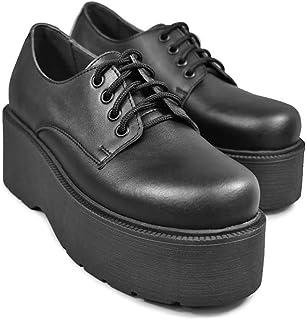 Altercore Spell Zapatos Mujer Plataforma Negro Vegan de Tacón Alto