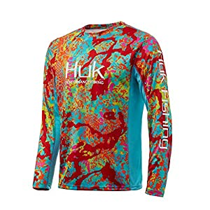 HUK Men's Kryptek Icon X Long Sleeve Performance Fishing Shirt with +30 UPF Sun Protection & Reflective Coating