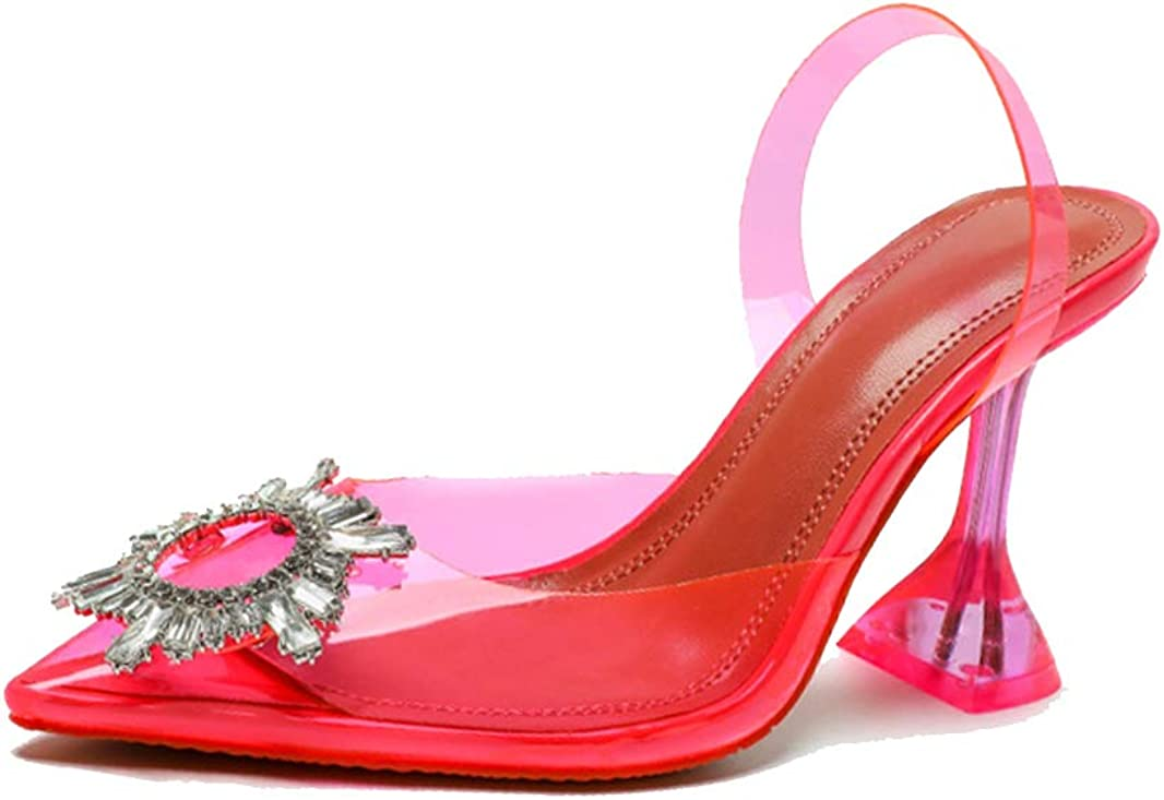 Women's Clear Heeled Jacksonville Reservation Mall Sandals Pointed Transparent Toe Sandal Wome